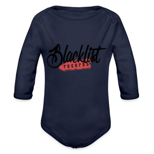 Blacklist Records - T-Shirt (Logo Noir) - Body Bébé bio manches longues