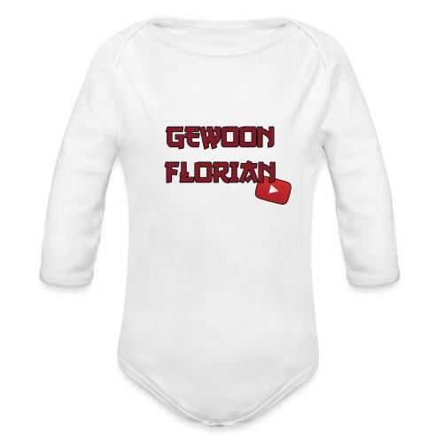 GewoonFlorian - Shirt - Baby bio-rompertje met lange mouwen