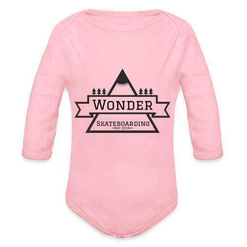 Wonder T-shirt: mountain logo - Langærmet babybody, økologisk bomuld