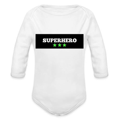 Lätzchen Superhero - Baby Bio-Langarm-Body