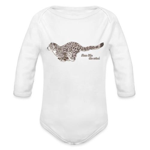 Snow Leopard: Run Like the Wind - Ekologiczne body niemowlęce z długim rękawem