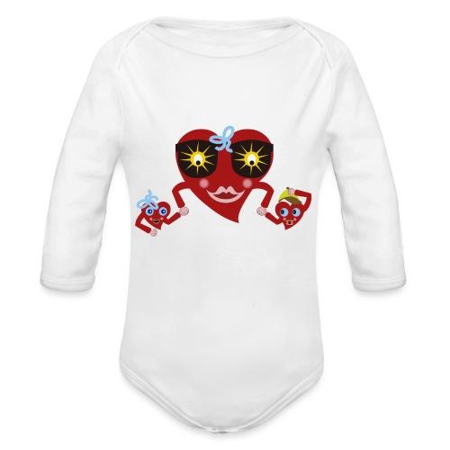 MAMA_CORAZON_GAFAS - Body orgánico de manga larga para bebé