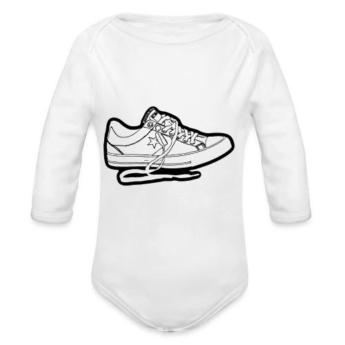 sneaker1 - Ekologisk långärmad babybody