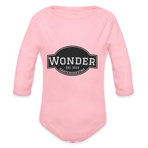 Wonder T-shirt - ol' small logo - Langærmet babybody, økologisk bomuld