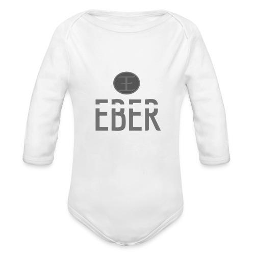 EBER: T-Shirt - White - Ekologisk långärmad babybody