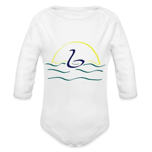 Swan - Baby bio-rompertje met lange mouwen