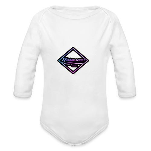 jordan sennior logo - Organic Longsleeve Baby Bodysuit