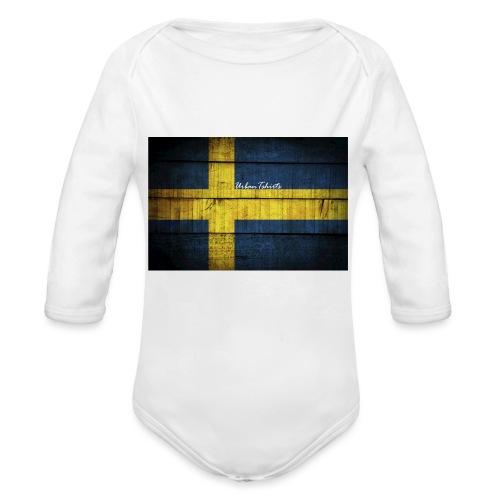 swedish-flag - Ekologisk långärmad babybody