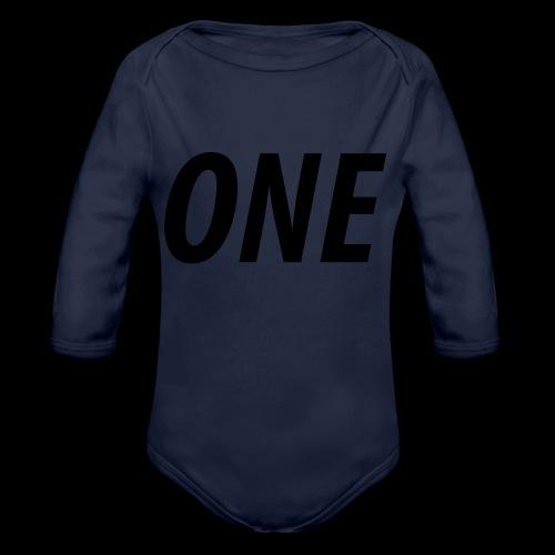 WEAREONE x LETTERS - Baby bio-rompertje met lange mouwen