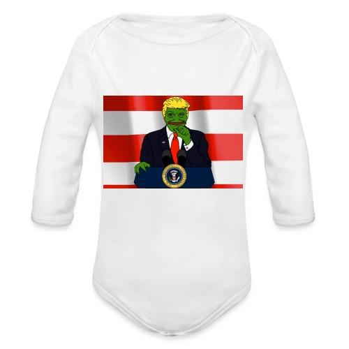 Pepe Trump - Organic Longsleeve Baby Bodysuit