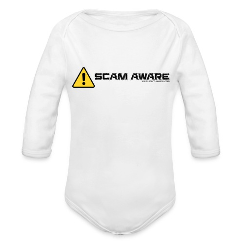 Scam Aware Phone Case's - Organic Longsleeve Baby Bodysuit