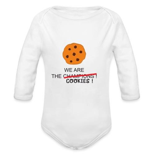 WE ARE THE COOKIES - Body ecologico per neonato a manica lunga