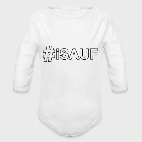 Hashtag iSauf - Baby Bio-Langarm-Body