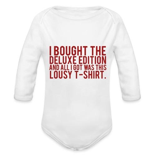 DELUXE EDITION. - Organic Longsleeve Baby Bodysuit