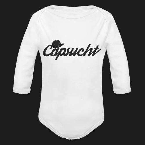 capsucht logo schwarz - Baby Bio-Langarm-Body
