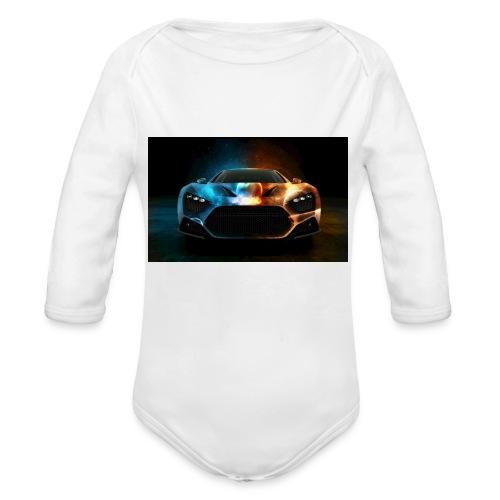 car - Organic Longsleeve Baby Bodysuit
