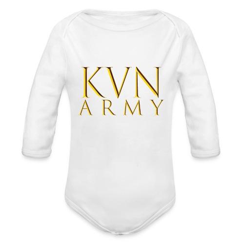 KVN ARMY LOGO GOLD - Baby Bio-Langarm-Body