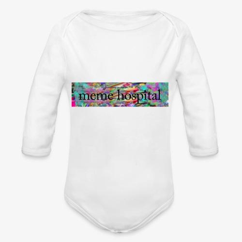 meme hospital logo - Organic Longsleeve Baby Bodysuit