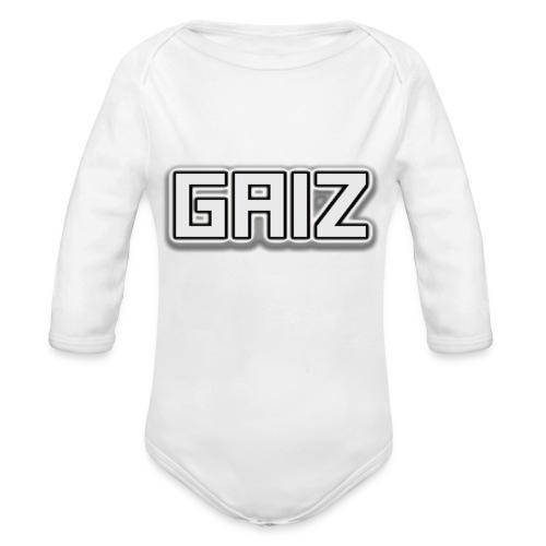 GAIZ-SENZA COLORE-BIANCO - Body ecologico per neonato a manica lunga