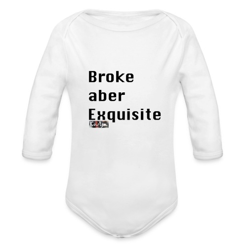 Broke aber Exquisite - Baby Bio-Langarm-Body