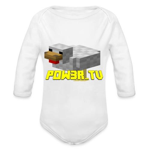 POW3R - Body ecologico per neonato a manica lunga