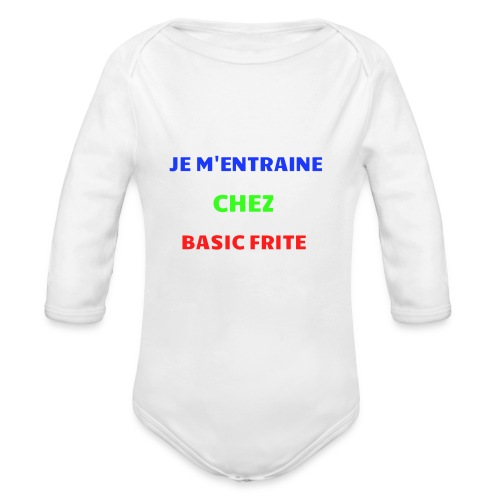 Basic Frite - Body Bébé bio manches longues