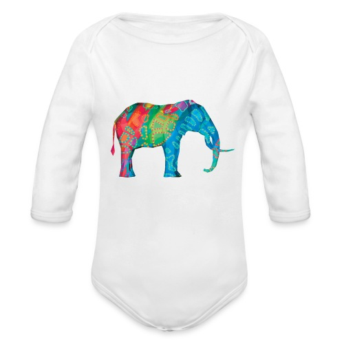 Elefant - Organic Longsleeve Baby Bodysuit