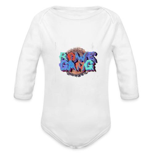RoweGang Basic Logo - Vauvan pitkähihainen luomu-body