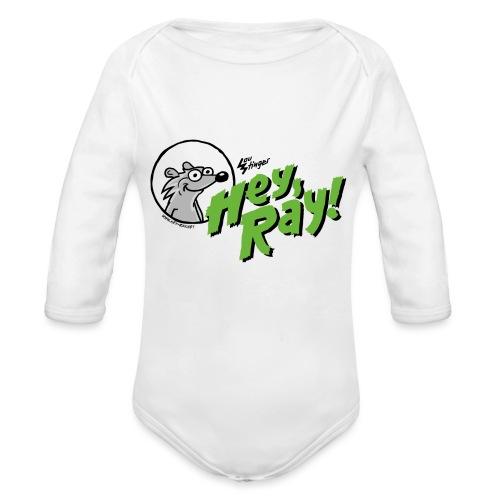 Hey Ray Logo green - Baby Bio-Langarm-Body