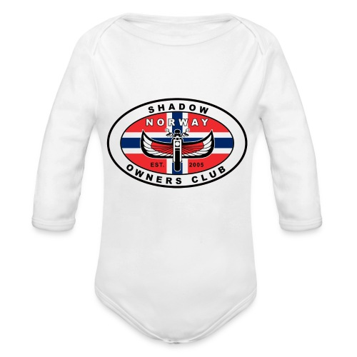 SHOC Norway Patch jpg - Økologisk langermet baby-body