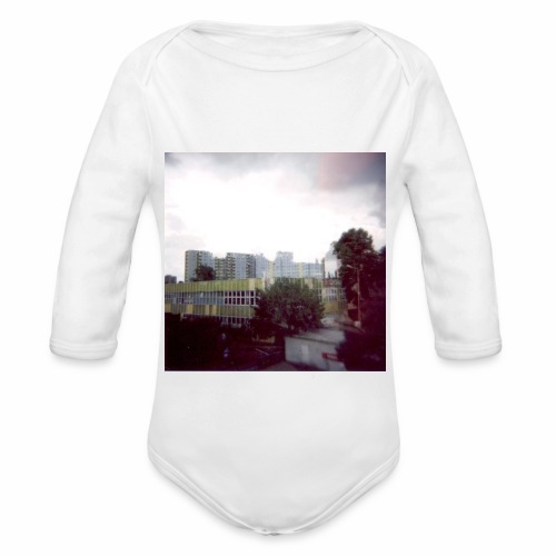 Original Artist design * Blocks - Organic Longsleeve Baby Bodysuit