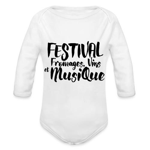 Festival FVM - Body Bébé bio manches longues