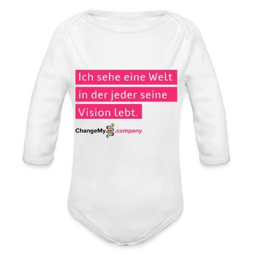 ChangeMy.Company Vision Branding - Baby Bio-Langarm-Body