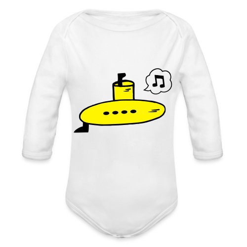 Singing Yellow Submarine - Organic Longsleeve Baby Bodysuit