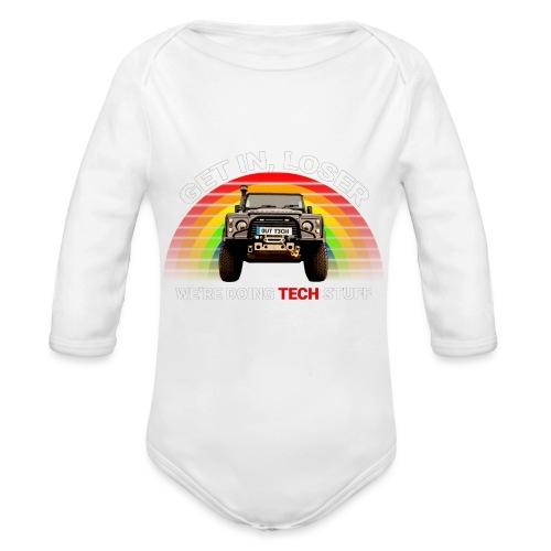 We're Doing Tech Stuff - Organic Longsleeve Baby Bodysuit