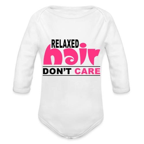 Relaxed Hair Don't Care - Organic Longsleeve Baby Bodysuit