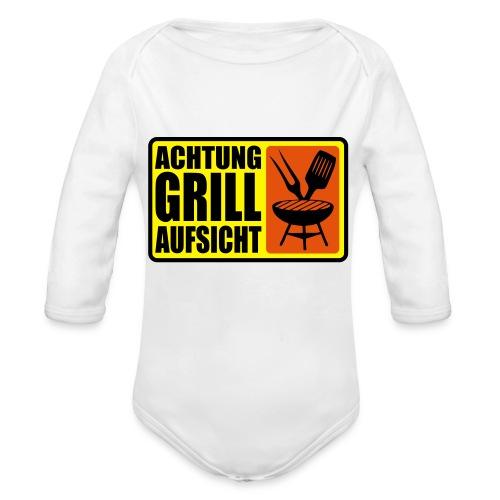 ACHTUNG GRILL-AUFSICHT - Baby Bio-Langarm-Body