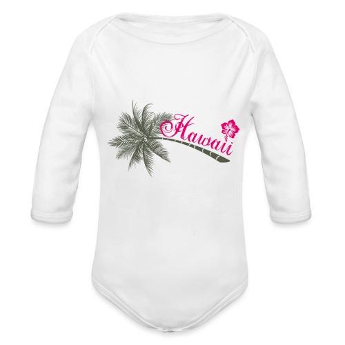 hawaii - Body Bébé bio manches longues