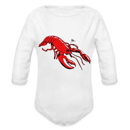 Lobster - Organic Longsleeve Baby Bodysuit