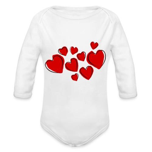 hearts herzen - Baby Bio-Langarm-Body