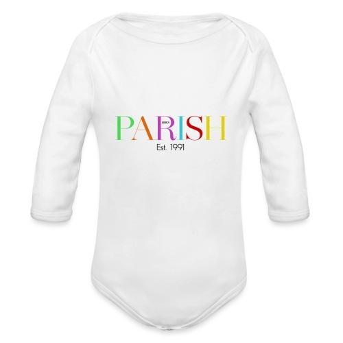 Jessica Parish Color-Schriftzug - Baby Bio-Langarm-Body