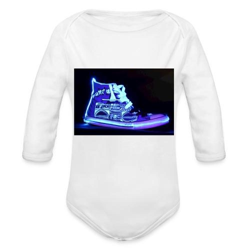 Jordan Schuh Lightpainting - Baby Bio-Langarm-Body