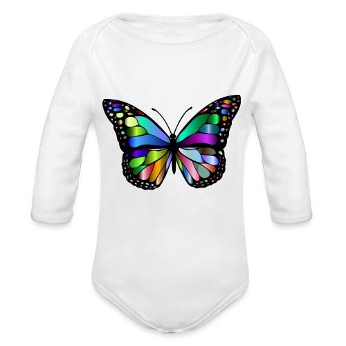 Kolorwy Motyl - Ekologiczne body niemowlęce z długim rękawem