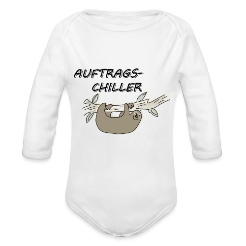 Faultier Auftragschiller - Baby Bio-Langarm-Body