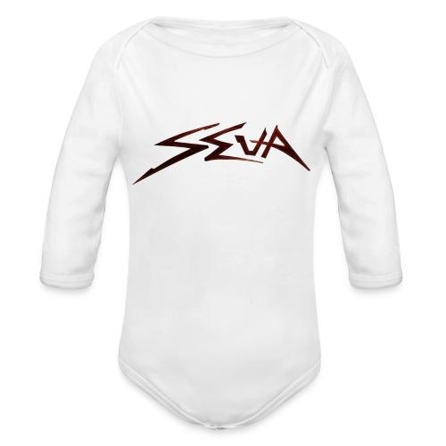 SEUA logo Speedy original design - Ekologisk långärmad babybody