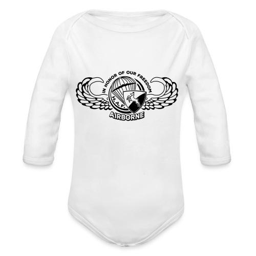 HAF tshirt back2015 - Organic Longsleeve Baby Bodysuit