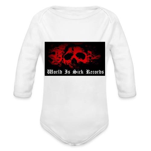 World Is Sick Skull Huppari - Vauvan pitkähihainen luomu-body