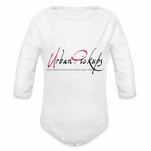 Logga röd och svart - Ekologisk långärmad babybody