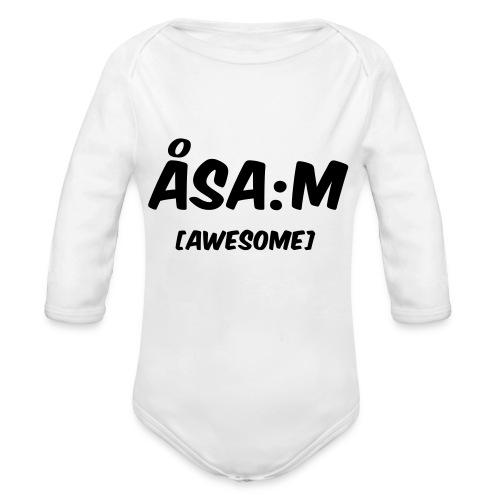 Åsa:m [awesome] - Ekologisk långärmad babybody