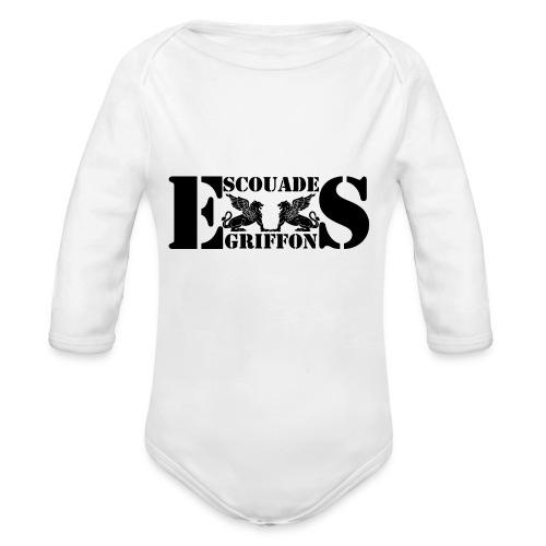 Logo Escouade Griffons 2016 - Body Bébé bio manches longues